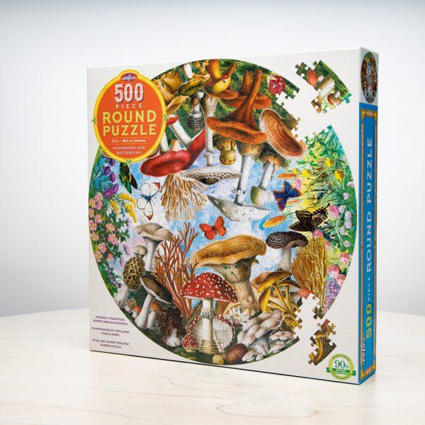 Mushrooms Butterflies Puzzle