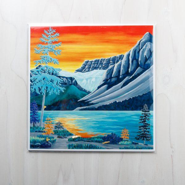 bow glacier print