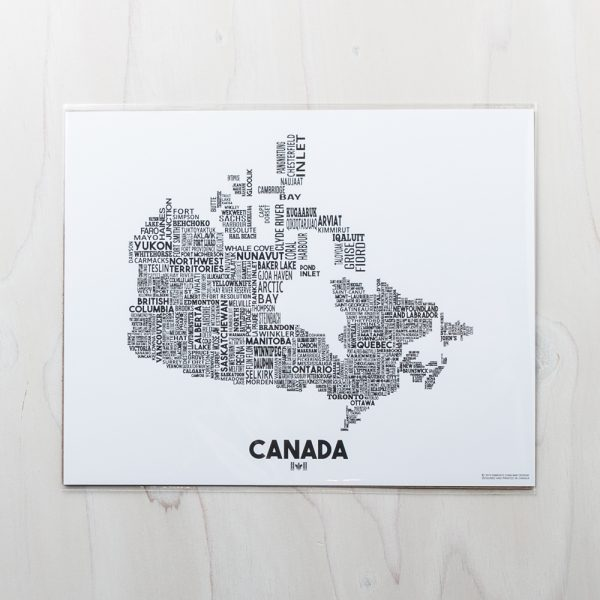 canada black print