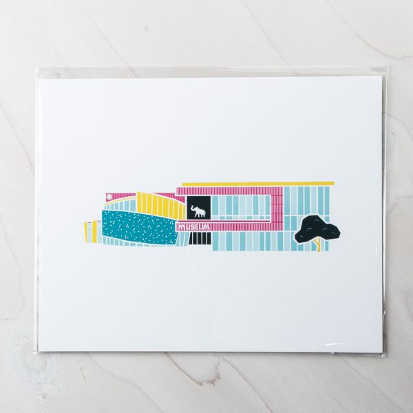 downtown museum print