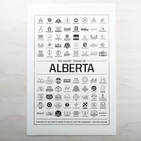 ghost towns of alberta print
