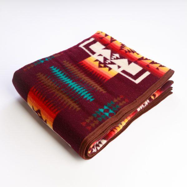 maroon blanket