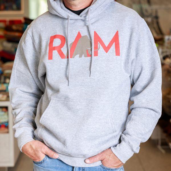 ram hoodie grey