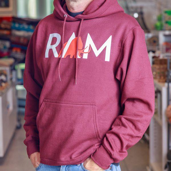 ram hoodie maroon