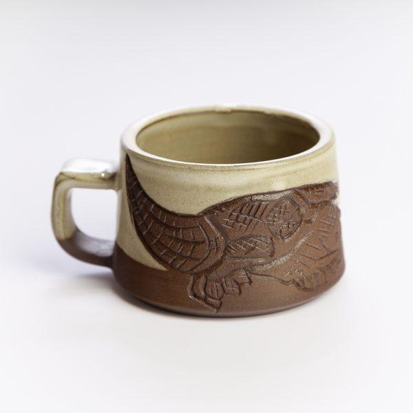 short bison skull mug