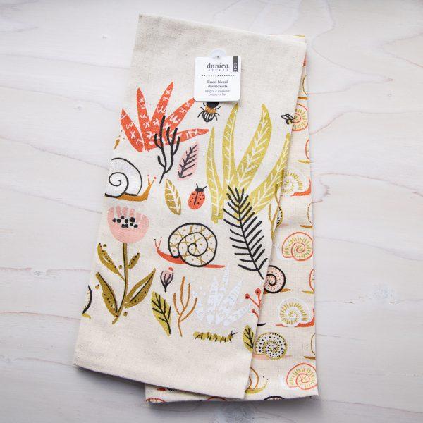 small world tea towel