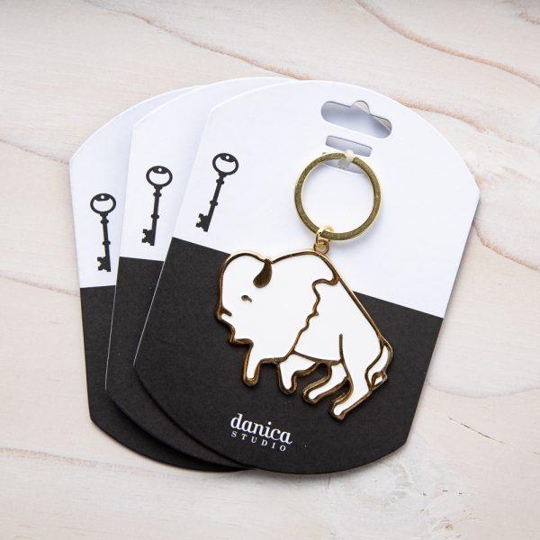 stay wild buffalo keychain