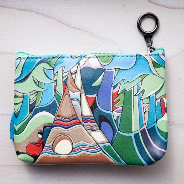 sunset coin purse