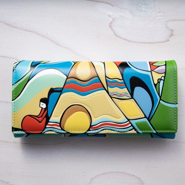 sunset womens wallet