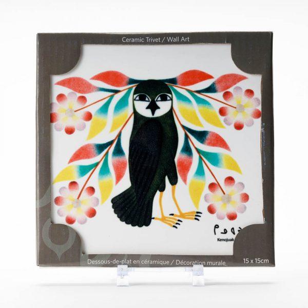 owls bouquet trivet