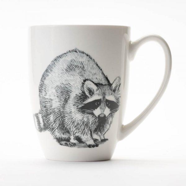 pen and ink raccoon