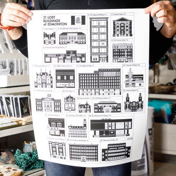 21 lost buildings print