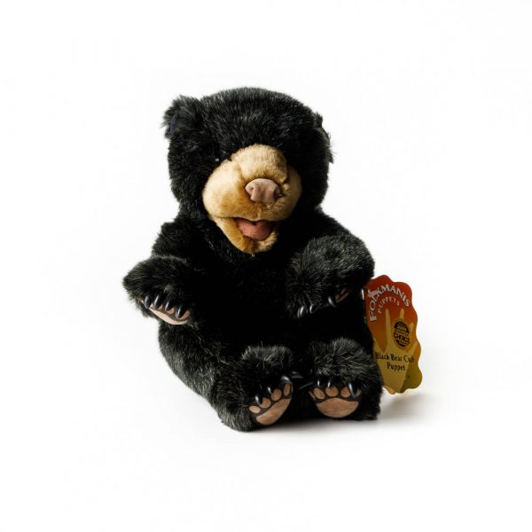 Black Bear Cub Puppet 2