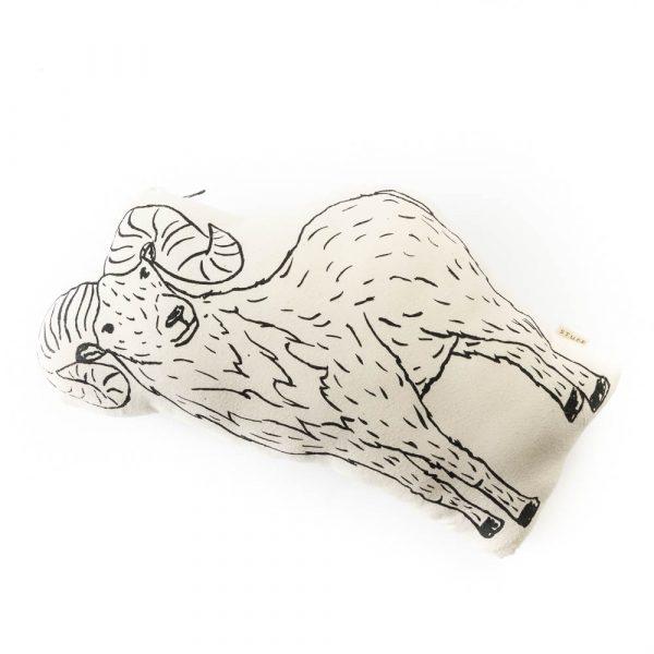 big horned sheep pillow