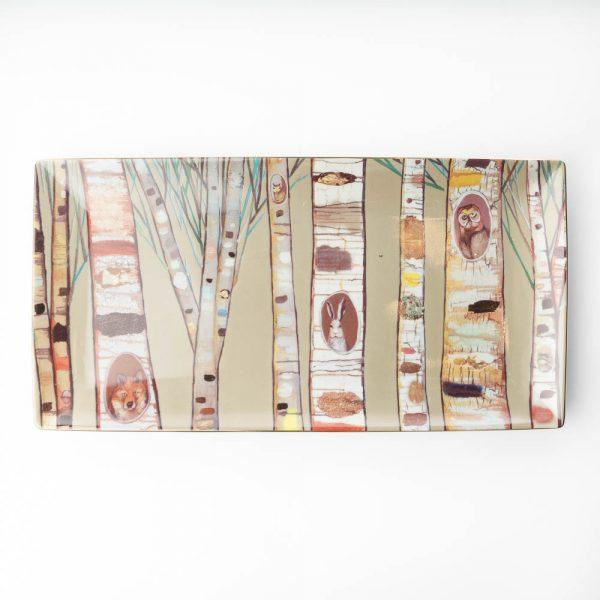 birch animals tray