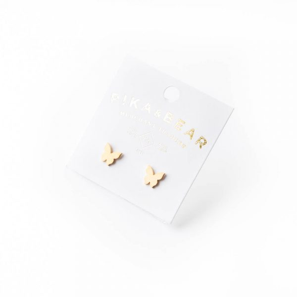 butterfly gold studs