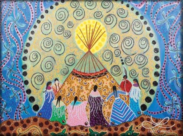 dancing women magnet