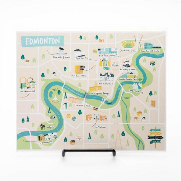edmonton map print