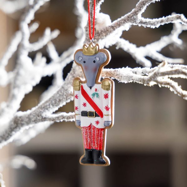 gingerbread mouse king ornament