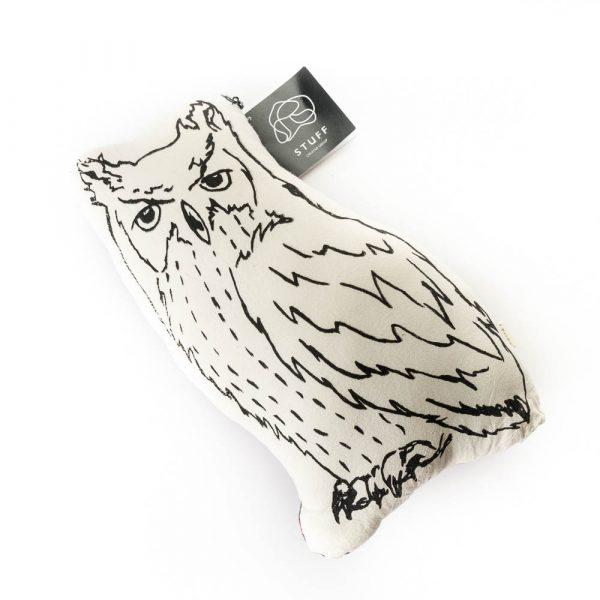 owl pillow front