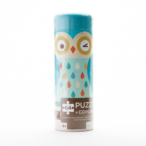 puzzle owl coin bank