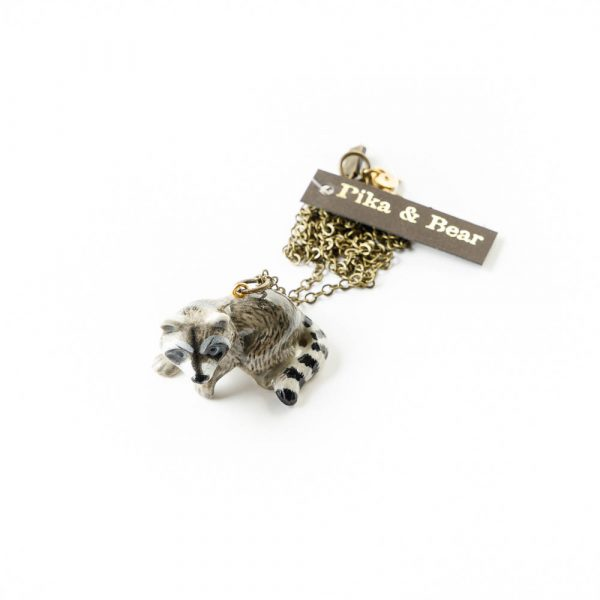 racoon necklace