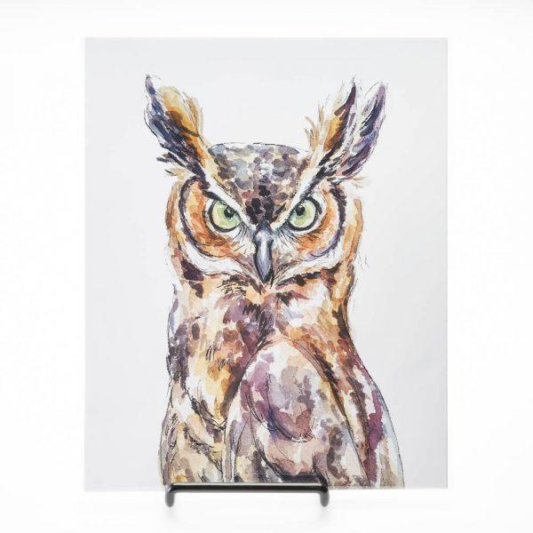 wise owl print