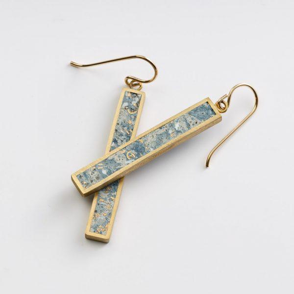 beton brut blue ephebeum earrings