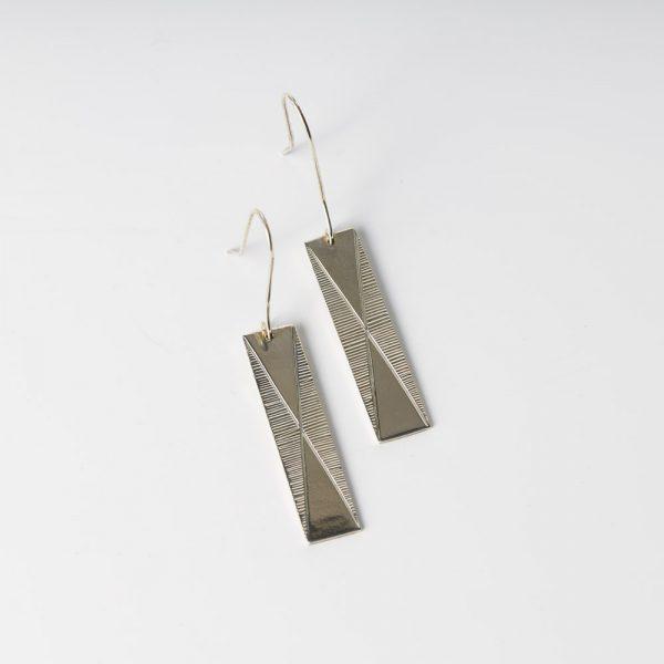 erik lee rectangle double triangle earrings