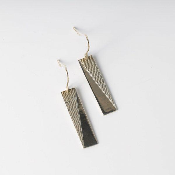 erik lee rectangle slash earrings