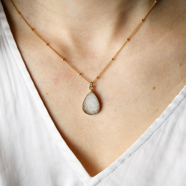 naked sage teardrop short necklace