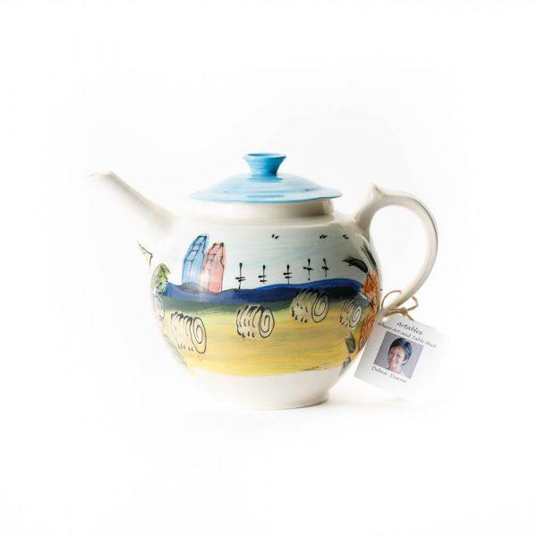 prairie scene teapot