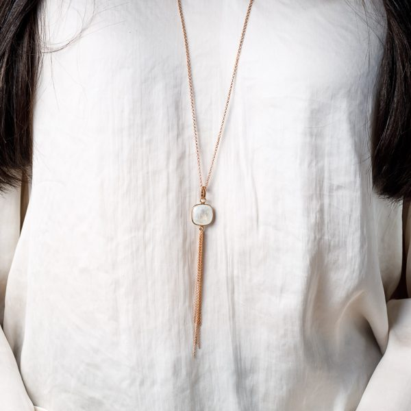 saraswati moonstone necklace