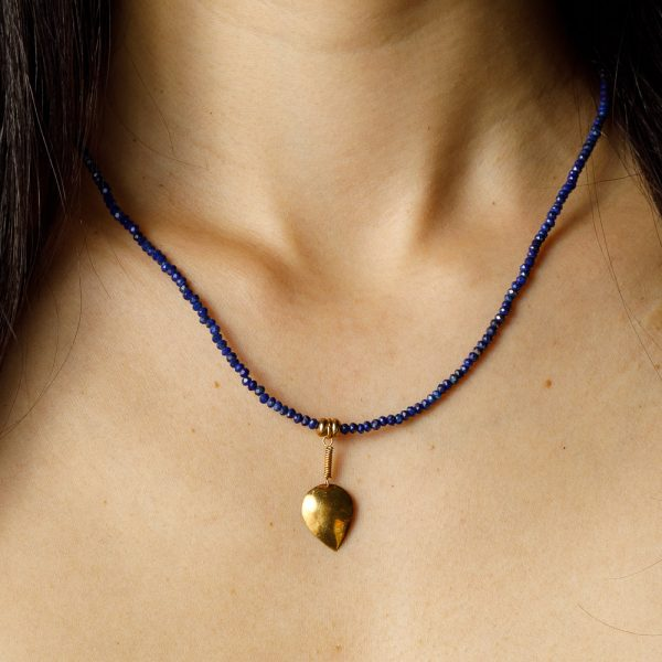 shakti dark blue gold charm chakra