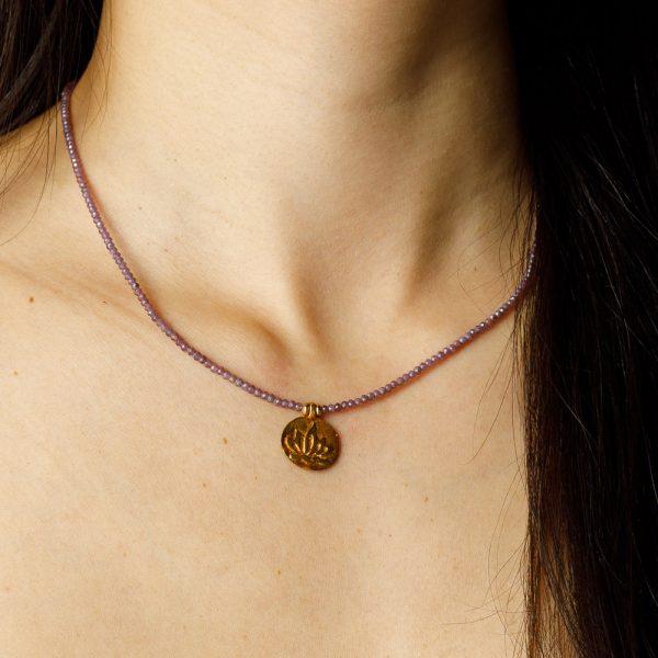shakti purple and gold charm chakra