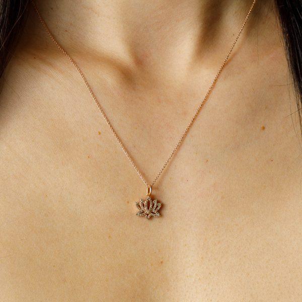 shakti rose gold lotus