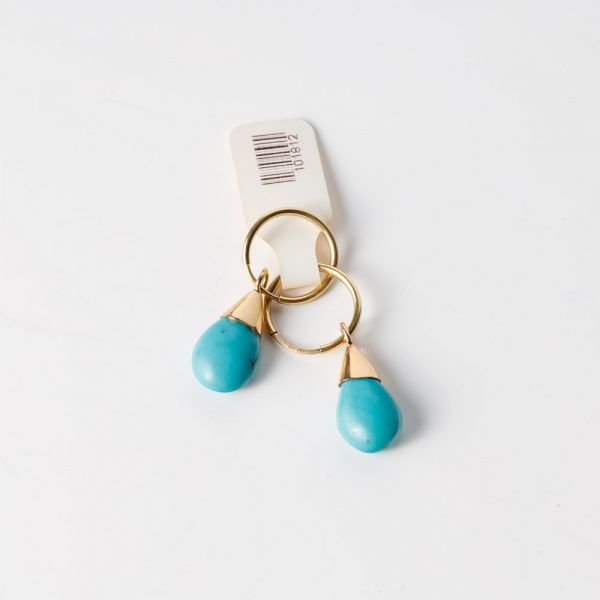 shakti turquoise and gold earrings