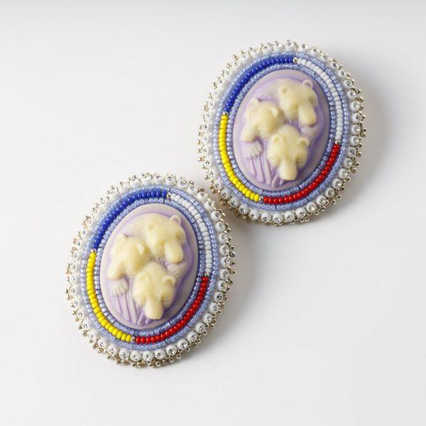 sister bear large bear earrings