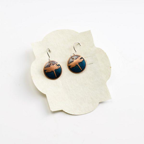 skrocki purple and blue earrings