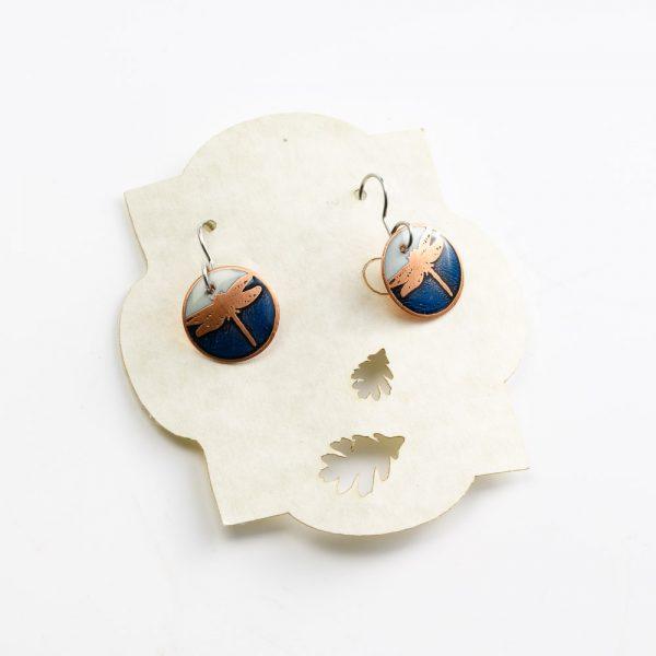 skrocki white and blue earrings