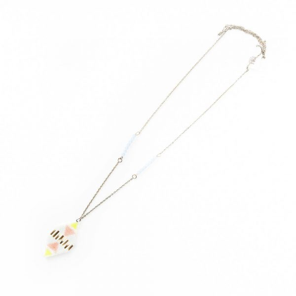 white otter pink and blue necklace