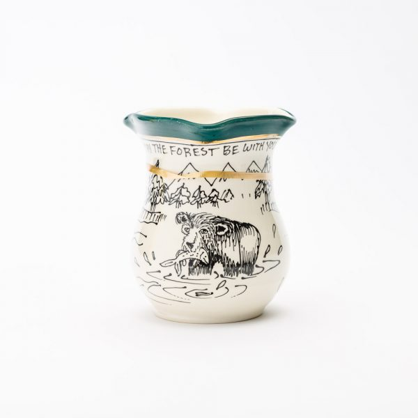 artables bear cottage small vase