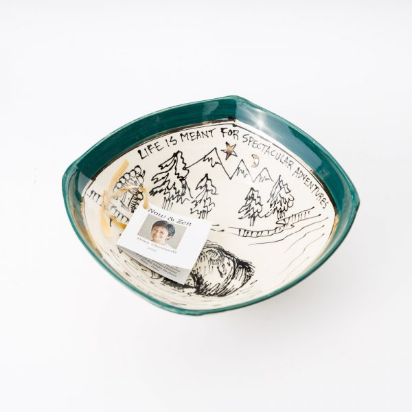artables bear cottage square bowl