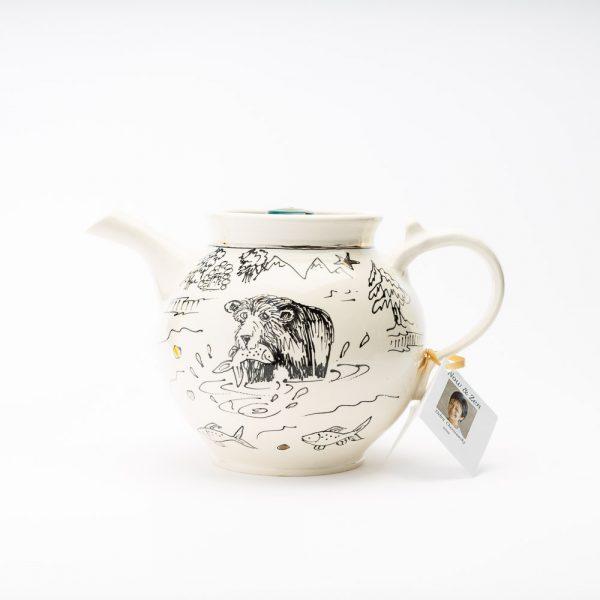 artables bear cottage teapot
