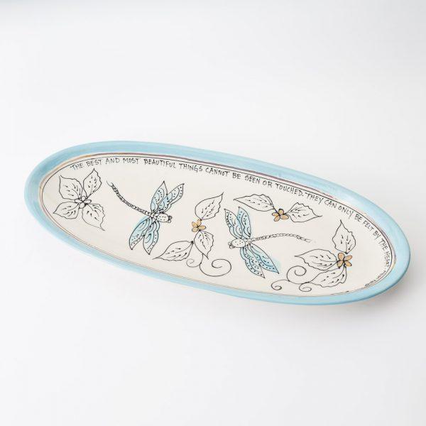 artables medium dragonflies fish dish