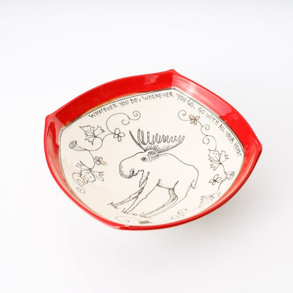 artables oh canada moose medium bowl