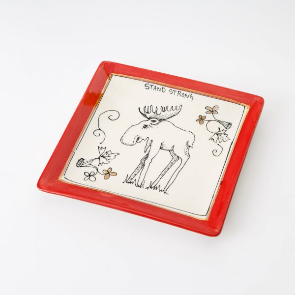 artables oh canada moose square plate