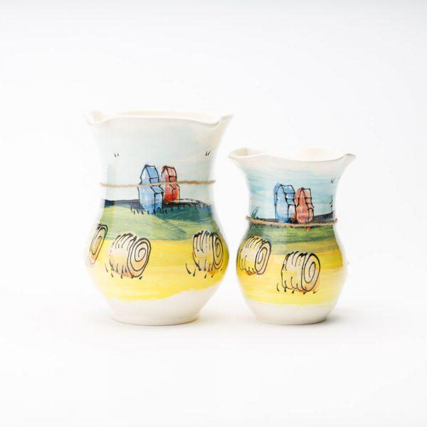 artables prairie scene vases