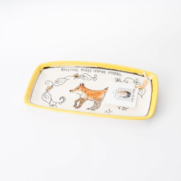artables rectangle fox plate