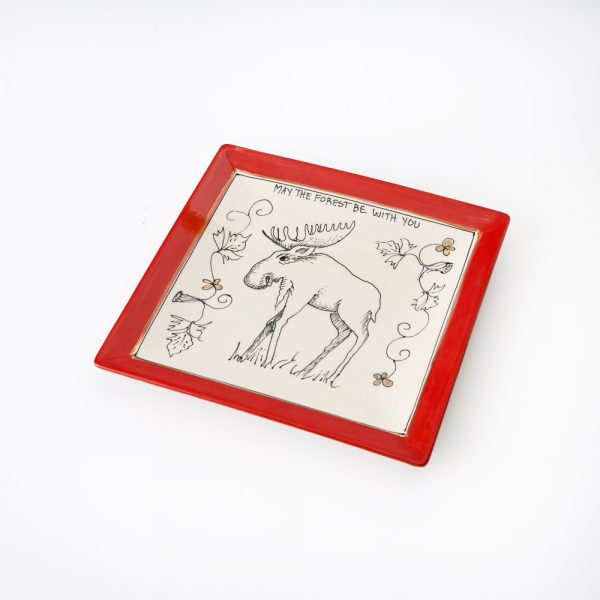 artables small square oh canada moose plate